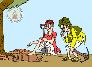 Right-Mind And Wrong-Mind - Panchatantra Story Picture